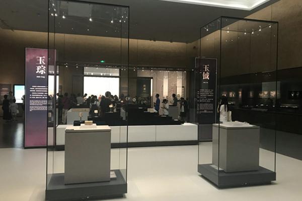 博物馆独立展览柜台